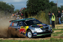 Hayden Paddon struggled to overcome tricky conditions at the Rally de Espana and was eventually forced to retire after getting stuck in mud overnight (NZT). Photo / Supplied.