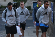 Keven Mealamu, Sam Cane, Wyatt Crockett and Victor Vito of the All Blacks. Photo / Getty Images. 