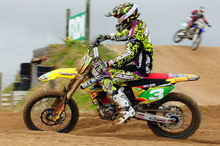 Bel-Ray Suzuki's Cody Cooper is keeping on form for the national motocross championships in February 2013. Photo / Andy McGechan