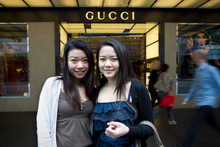 Cathy (left) and Kary Chung say city shops are boring. Photo / Natalie Slade