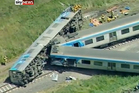 The cleanup will take five days and the track will have to be rebuilt after the Melbourne train crash. Photo / Supplied