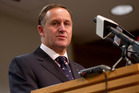 Prime Minister John Key  during his post-Cabinet press conference at the Beehive in Wellington. Photo / Mark Mitchell