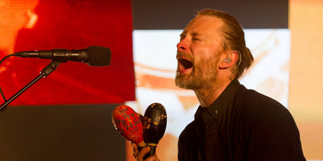 Thom Yorke of English rock band Radiohead. Photo / Greg Bowker