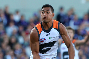 Israel Folau of the Giants. Photo / Paul Kane