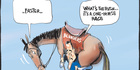 View: Cartoon: One-horse race