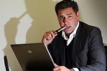 Private investigator Daniel Thompson-Toresen at his central Auckland office.  Photo / Doug Sherring