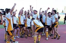Cyprus after beating Greece. Photo / Stavros Tum