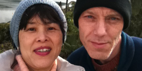 Stephen McIntyre with his wife Reiko Yanai. Photo / Supplied