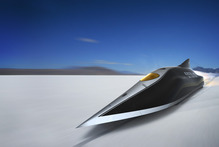 Jetblack's redesign, which is scheduled to be built next year, will attempt to break the land speed record.  Photo / Supplied