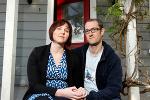 Kate Sutton and Oliver Mannion have been house-hunting for seven months. Photo / Michael Craig