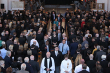 The funeral of Lawyer Greg King was held today at Wellington Cathedral of St Paul.  Photo / Supplied