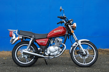 The Suzuki GN125 is NZ's top selling bike. Photo / Jacqui Madelin