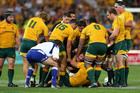 All Blacks captain Richie McCaw is pulled from an altercation against Australia. Photo / Getty Images