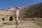 Naoki Kuriowa at Lepris Magna in Libya - his last stop on his world tour. Photo / Supplied