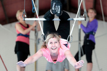Rachel Grunwell's muscles ached for days after her adrenaline-filled trapeze lesson. Photo / Michael Craig