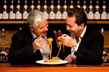Sergio Maglione from Toto (right) and his uncle, Antonio Crisci of Non Solo Pizza. Photo / Babiche Martens