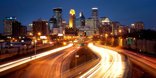 Minnesota's skyline. Minnesota is home to the Mall of America - the largest mall in the world. Photo / Bloomberg