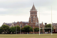 Rugby School in Warwickshire was where Webb Ellis made his famous illegal play, which became part of the rules of the game. Photo / Bloomberg