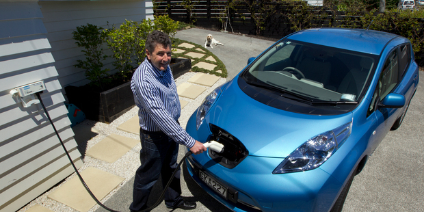 Businessman Mark Yates says motorists won't lose performance with the Nissan Leaf. Photo / Supplied