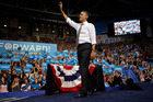 President Barack Obama waves to supporters.  Photo / AP