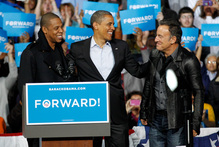 Jay-Z, President Barack Obama and Bruce Springsteen. Photo /AP