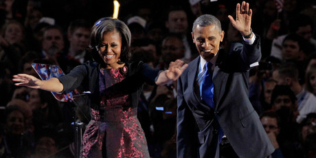 President Barack Obama along with first lady Michelle Obama.Photo / AP