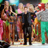 Singer Justin Bieber celebrates during the finale of the 2012 Victoria's Secret Fashion Show.Photo / AP