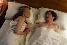 Helen Hunt, left, and John Hawkes in a scene from 'The Sessions.' Photo / AP 