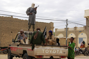 One of the armed Islamist groups Ansar Dine is in Burkina Faso's capital for peace talks. Photo / AP