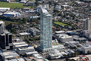 The Sentinel apartment building in Takapuna. Picture / Brett Phibbs