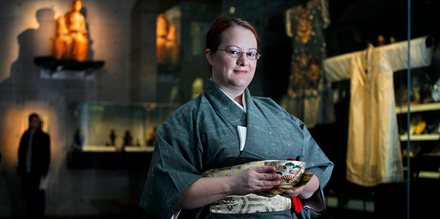 Eleanor Goldsmith learned how to appreciate the Japanese tea ceremony. Photo / Steven McNicholl