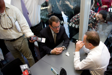John Banks (left) and John Key tried using MMP rules to their parties' advantage when they met before the election to discuss their joint strategy. Photo / Dean Purcell