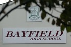 Bayfield High School in Dunedin. Photo / Dean Purcell