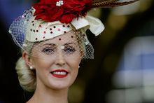 Julie Barbour, winner of the Viva Fashions in the Field Supreme Award, will compete against hundreds of other hopefuls at the 2012 Myer Fashions on the Field at the Melbourne Cup. Photo / Sarah Ivey