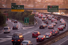 The Great North Rd exit on the Northwestern motorway. Photo / NZ Herald