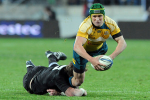 Matt Giteau has ended any chance of playing for Australia again. Photo / Ross Setford