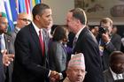US President Barack Obama with Prime Minister John Key. Photo / NZPA