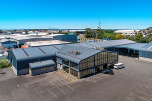 Elevated view of industrial building at 83 Captain Springs Rd.