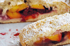 Peach and raspberry scones. Photo / Chris Court