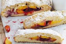 Peach and raspberry scones. Photo / Chris Court