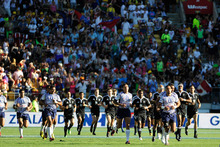 It's taken less than an hour for tickets to the sold out Wellington Sevens to pop up on Trade Me. Photo / Getty Images.