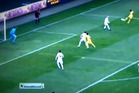 Brazilian midfielder Taison scored an early contender for goal of the season yesterday with a spectacular volley in his Ukrainian side's Europa League clash win. Photo / Youtube.