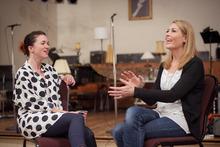 Julia Deans (left) and Jennifer Ward-Lealand. Photo / Ted Baghurst