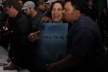 Fans celebrate the arrival of Master Chief's next adventure, Halo 4. Photo / Herald online