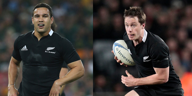 Tamati Ellison and Ben Smith make up a new midfield combination to face Scotland. Photo / Getty Images/NZ Herald