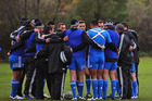The All Blacks backs gather during a training session at Peffermill University in Edinburgh. Photo / Getty Images