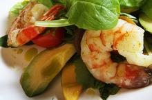 Avocado and prawn salad. Photo / Bay of Plenty Times