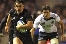 Dan Carter in action during the All Blacks last test against Scotland in 2010. Photo / Getty Images