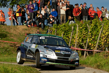 Hayden Paddon in action during Rally France. Photo / Honza Fronek 