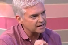 Philip Schofield confronts British Prime Minister David Cameron on the show This Morning. Photo / YouTube